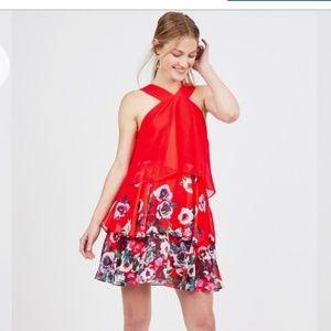Badgley Mischka for LeTote Popover Ruffle Dress